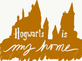 Hogwarts is my home greeting card